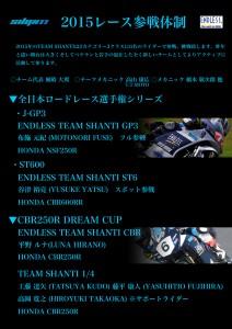 2015チーム体制リリース